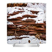 Rock Sandwich With Snow Icing Shower Curtain