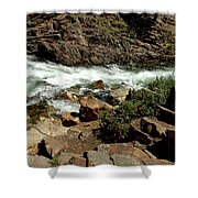 Rock Steps To Glen Alpine Creek Shower Curtain