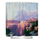 Rock Towers Of The Rio Virgin Shower Curtain
