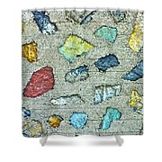 Rock Wall Abstract Shower Curtain