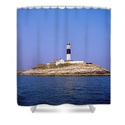 Rockabill, Off Skerries, Co Dublin Shower Curtain