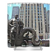 Rockefeller Poseidon Shower Curtain