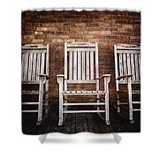 Rocking Chairs Shower Curtain