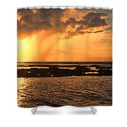 Rockpool Sunset Shower Curtain