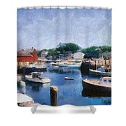 Rockport Maine Harbor Shower Curtain