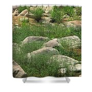 Rocks And Grass At Amidon Conservation Area Missouri Shower Curtain
