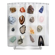 Rocks And Minerals Shower Curtain