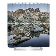 Rocks And Reflections Shower Curtain