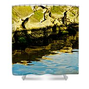 Rocks And Reflections On Ocean Shower Curtain