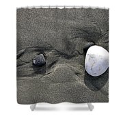 Rocks And Sand  Shower Curtain
