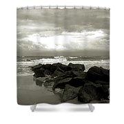 Rocks At Folly Beach Sc Shower Curtain
