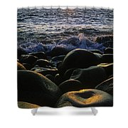 Rocks At The Coast, Giants Causeway Shower Curtain