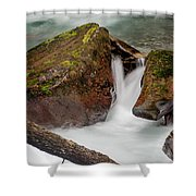 Rocks Of Avalanche Gorge Shower Curtain