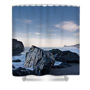 Rocks Of Dry Lagoon Shower Curtain