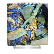 Rocks Of Gold Shower Curtain