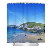 Rocks On The Beach, Coumeenoole Beach Shower Curtain