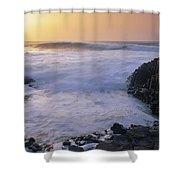 Rocks On The Beach, Giants Causeway Shower Curtain