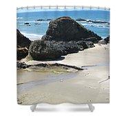 Rocks On The Oregon Coast Shower Curtain