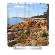 Rocky Coast Of Maine Shower Curtain