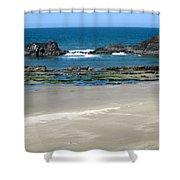 Rocky Coastline Shower Curtain