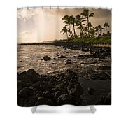Rocky Coastline, Poipu, Kauai, Hawaii Shower Curtain
