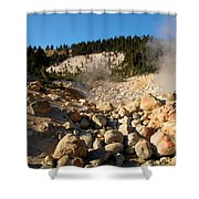 Rocky Fumarole Shower Curtain