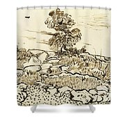 Rocky Ground At Montmajour Shower Curtain