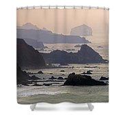 Rocky Headlands On The Big Sur Coast Shower Curtain