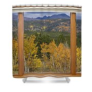 Rocky Mountain Autumn Picture Window Scenic View Shower Curtain