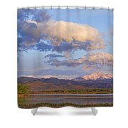 Rocky Mountain Early Morning View Shower Curtain