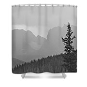 Rocky Mountain High Bw Shower Curtain