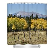 Rocky Mountain High Country Autumn Fall Foliage Scenic View Shower Curtain
