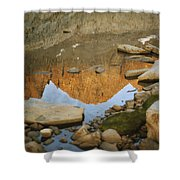 Rocky Mountain Peaks Are Reflected Shower Curtain