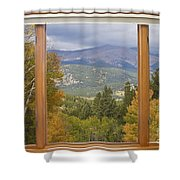 Rocky Mountain Picture Window Scenic View Shower Curtain