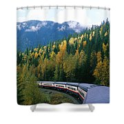 Rocky Mountain Rail Tours, Jasper Shower Curtain