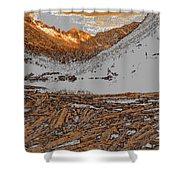 Rocky Mountain Winter Shower Curtain