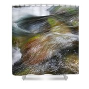 Rocky Riverbed Shower Curtain