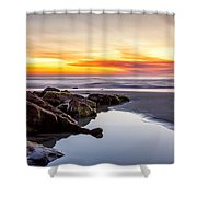 Rocky Shoreline Shower Curtain