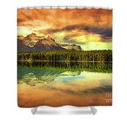 Rocky Sunrise Shower Curtain