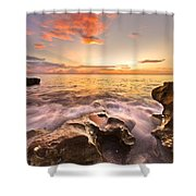 Rocky Surf Shower Curtain