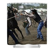 Rodeo Wild Horse Race Shower Curtain