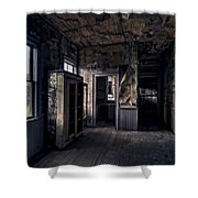 Roe - Graves House Kitchen Of Bannack Ghost Town - Montana Shower Curtain