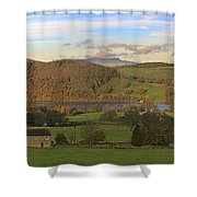 Roe House Overlooks Ullswater Near Pooley Bridge In The Lake District Shower Curtain