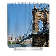 Roebling Bridge To Cincinnati Shower Curtain