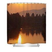 Rogue September Sunrise 3 Shower Curtain