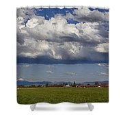Rogue Valley Red Roof Farm Shower Curtain