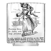Roller Skates, 1896 Shower Curtain