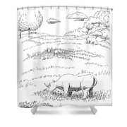 Rolling In Clover Shower Curtain