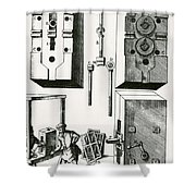 Rolling Mill For Lead Strips Shower Curtain by Photo Researchers