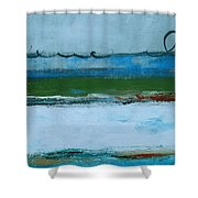 Rolling On The Blue II Shower Curtain